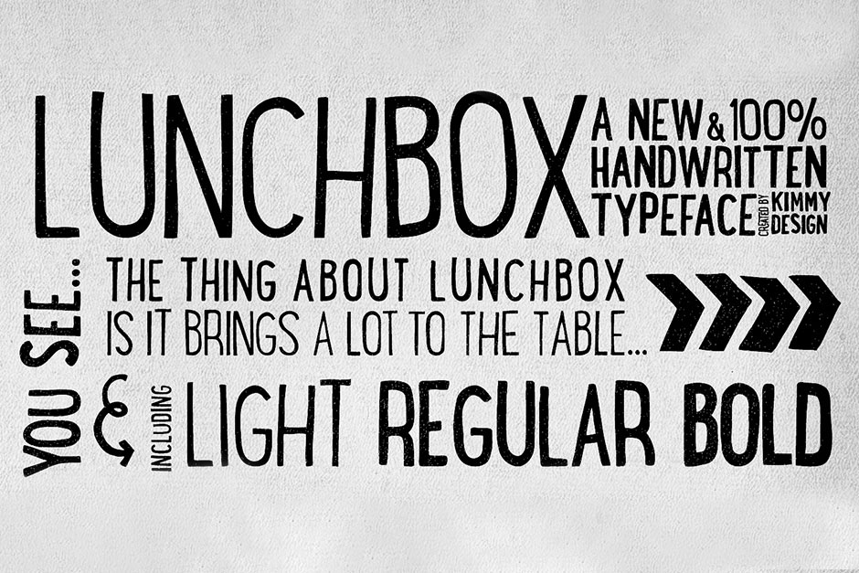 LunchBox Font Family