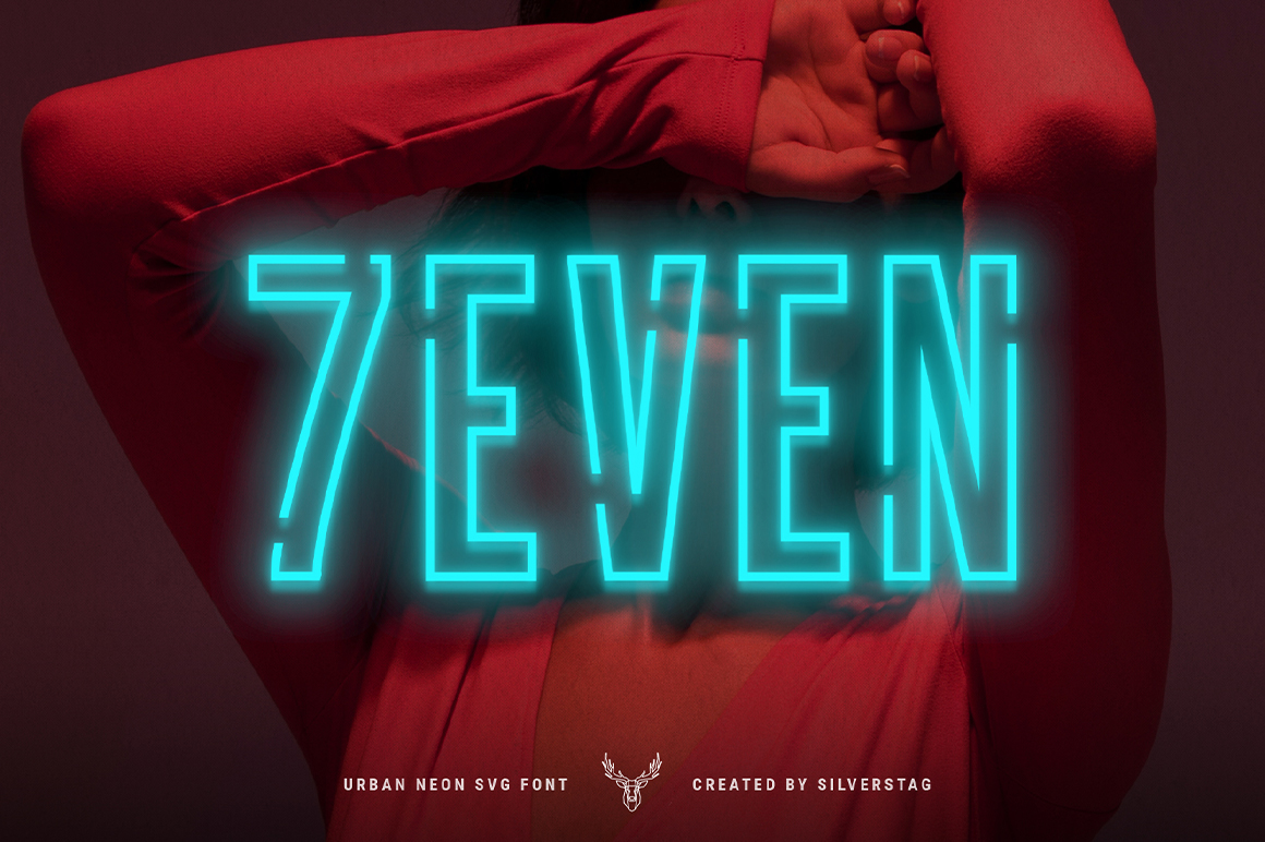 7even SVG - Urban Neon Font Pack