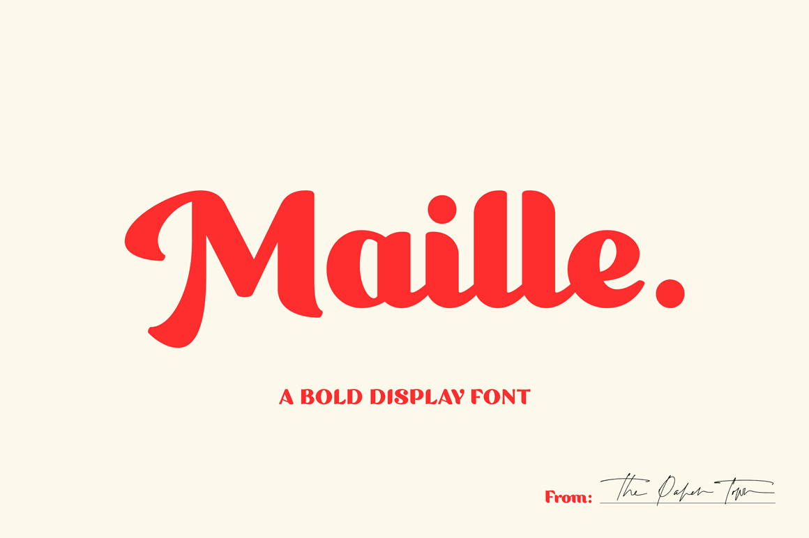 Maille - Bold Display Font