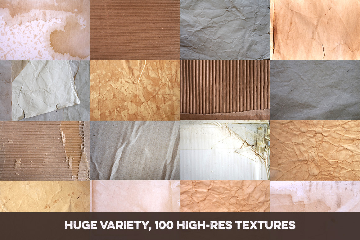 100 Paper and Card Textures