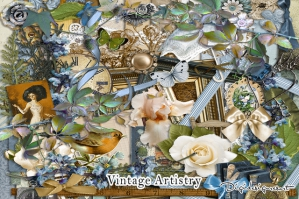 Vintage Artistry Digital Scrapbooking Kit