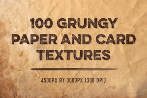 100 Grungy Paper and Card Textures (Plus Bonus Tutorial)