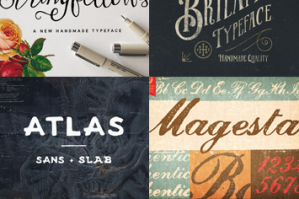 30 Best Selling Creative Fonts (Includes Web Fonts and Extended Licensing)