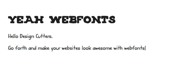 webfonts tutorial