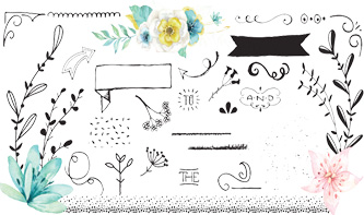 Decorative Vectors and Floral Graphics Pack