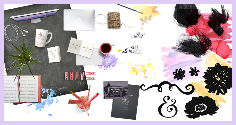 Scene Creator Items, Watercolour Graphics Pack