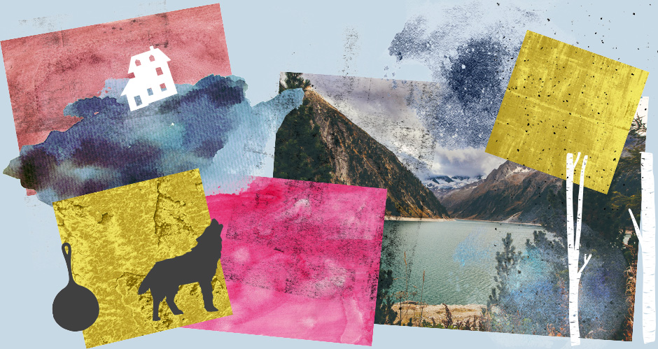 Watercolour and Grungy Textures, Landscape Stockphoto, and Nature Vectors