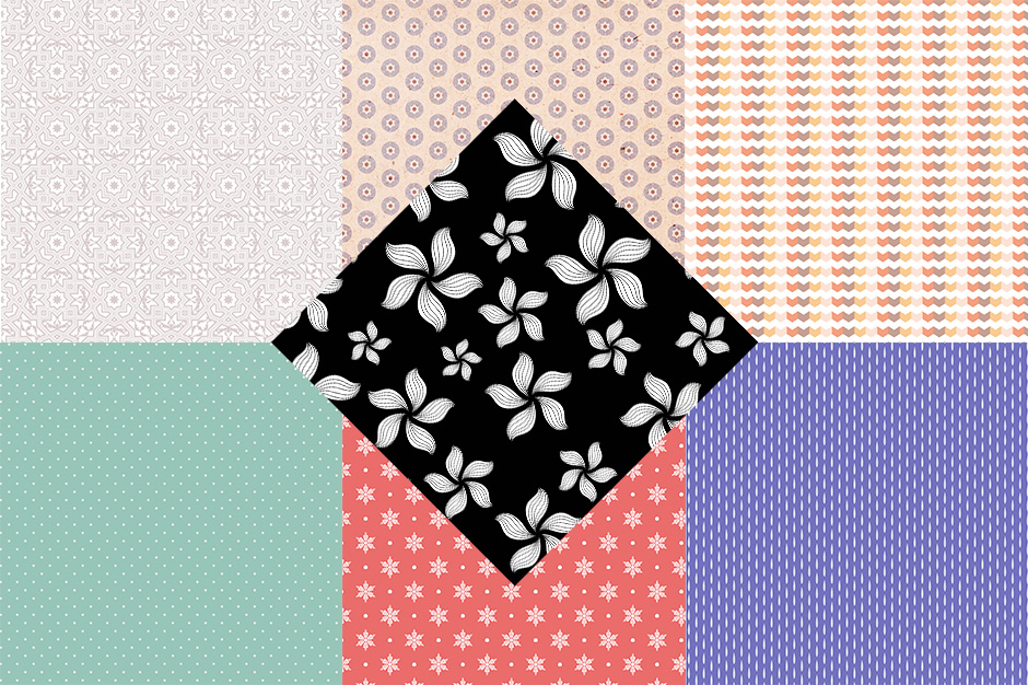 Digital Papers and Seamless Patterns Pack