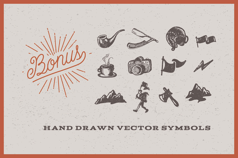Hand-drawn Outdoor Vector Elements Pack