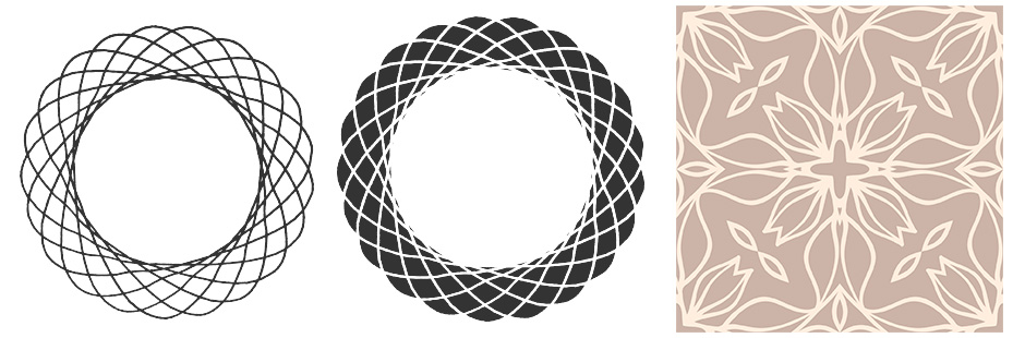 Seamless Vintage Patterns and Spirographic Vectors Pack