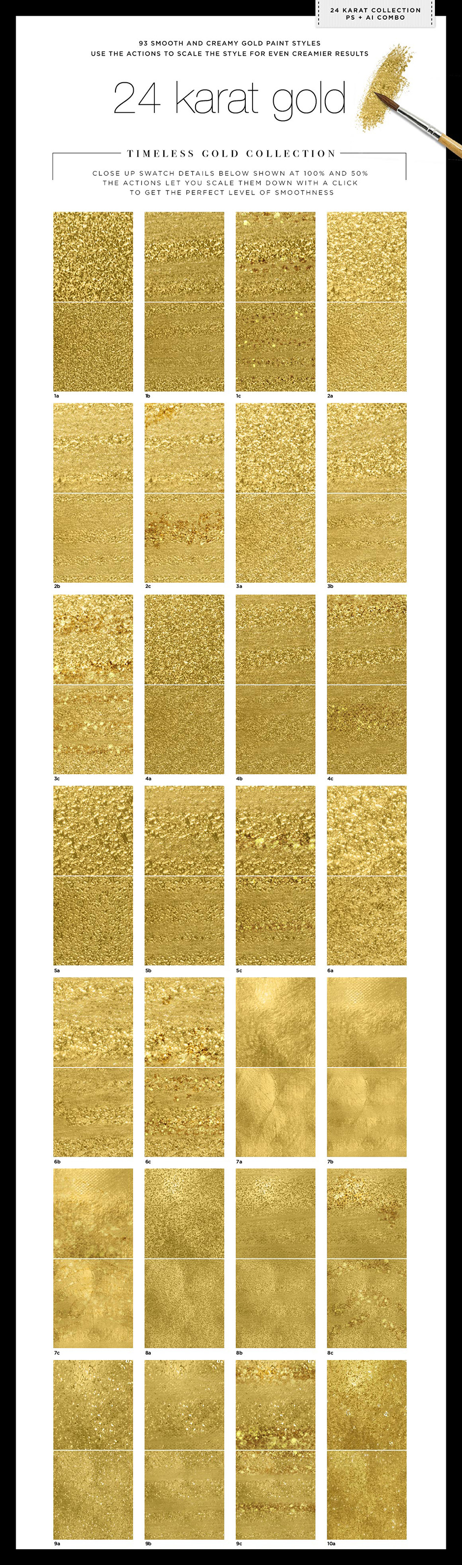 Gold 24K Liquid Watercolor Paint Duo