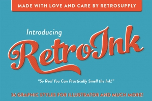 RetroInk - Huge Illustrator Kit