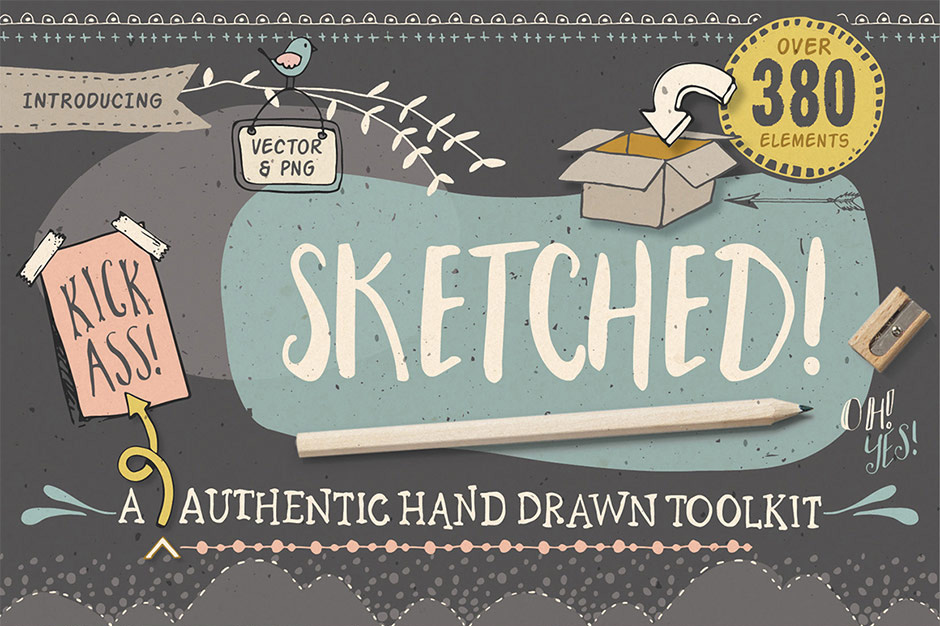 Sketched! Hand-drawn Graphic Toolkit