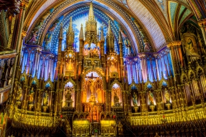 The Interior Of Basilica Notre Dame In Montreal Quebec Canada 3