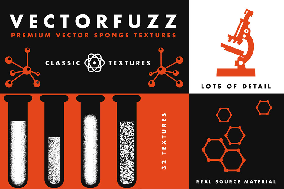 VectorFuzz Illustrator Sponge Scatter Brushes
