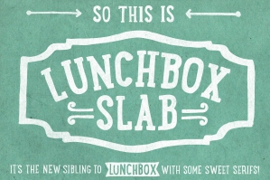 LunchBox Slab Font Family