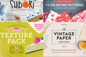 The Colossal Textures and Patterns Bundle (1200+ Quality Designs)