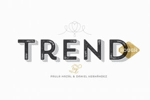 Trend Rough Font Family