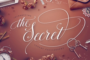 The Secret: Luxury Calligraphy Script