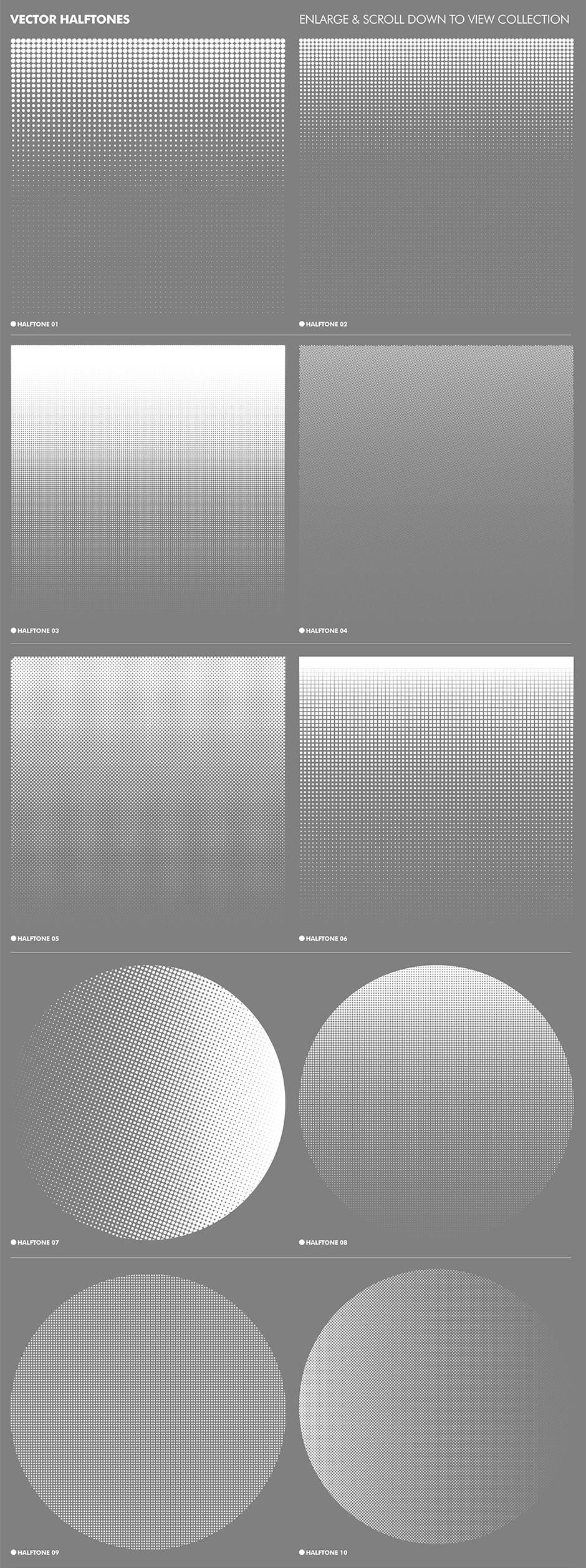 Clean Vector Halftone Effects Collection
