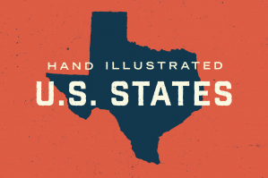 50 States - Hand Illustrated