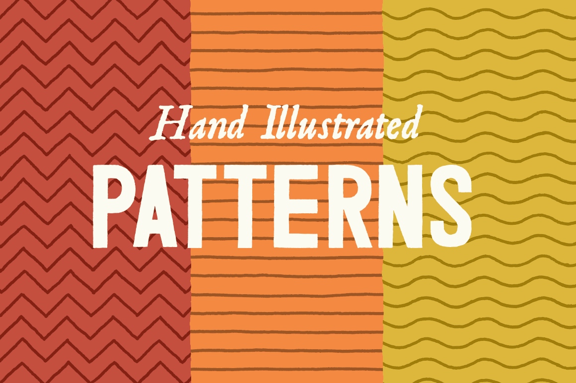 Line Patterns - Hand Illustrated