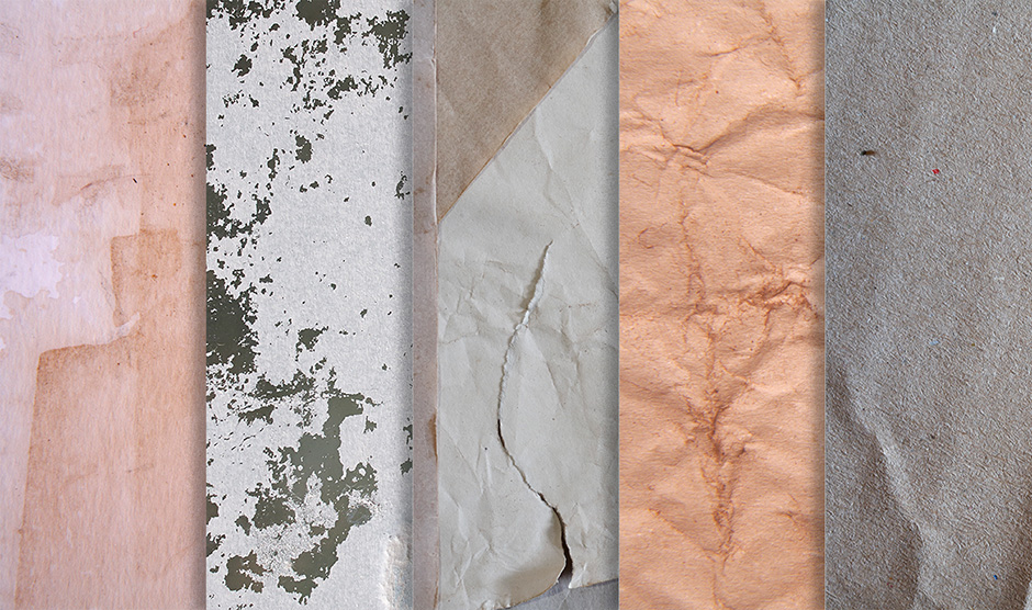 100 Grungy Paper and Card Textures - Sample Pack