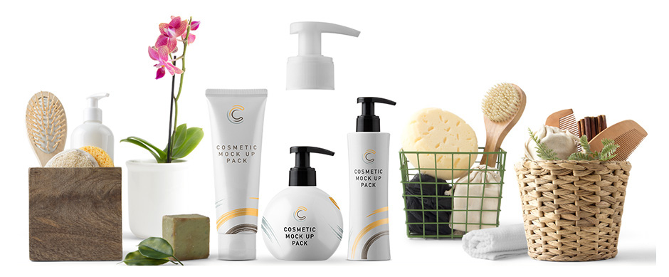 Cosmetic Packaging Mockups and Scene Creator Elements