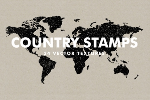 Vector Country Stamps