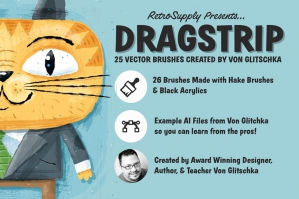 Dragstrip | Illustrator Brush Kit