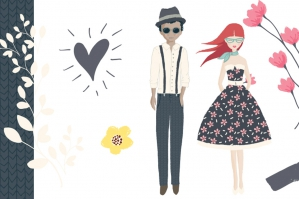 Vector Florals, Avatars, Patterns, Shapes and Banners