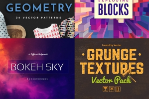 The Mammoth Textures, Patterns and Backgrounds Bundle