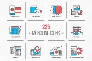 Monoline Icons Collection
