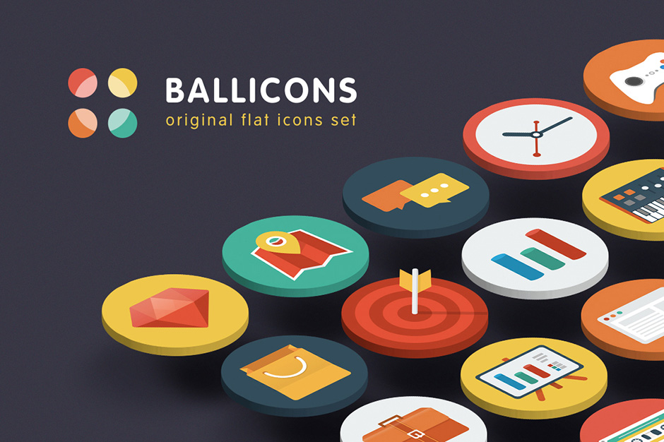 Ballicons - Original Flat Icons Set