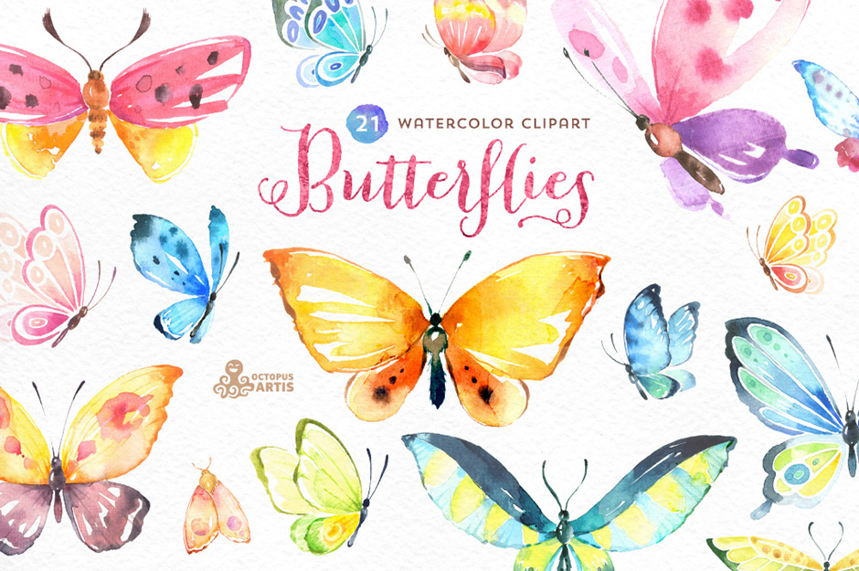Butterflies Watercolor Set