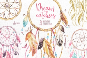Dreamcatchers: Watercolor Collection