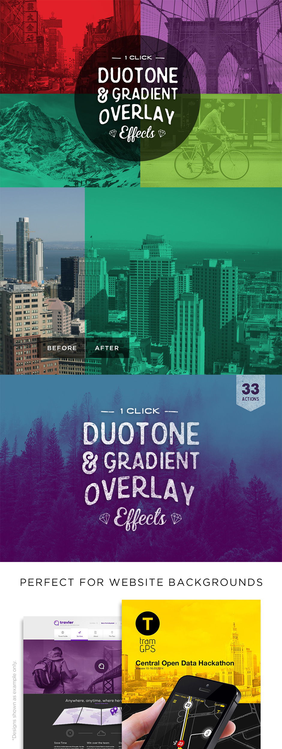 Duotone Photoshop Actions
