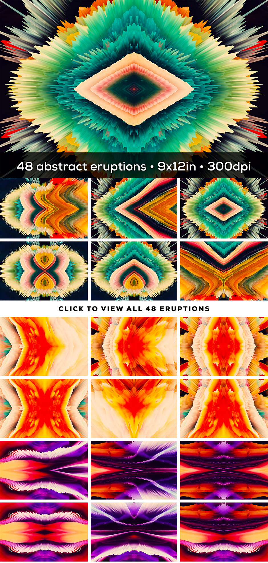 Eruption: 48 Abstract Explosions
