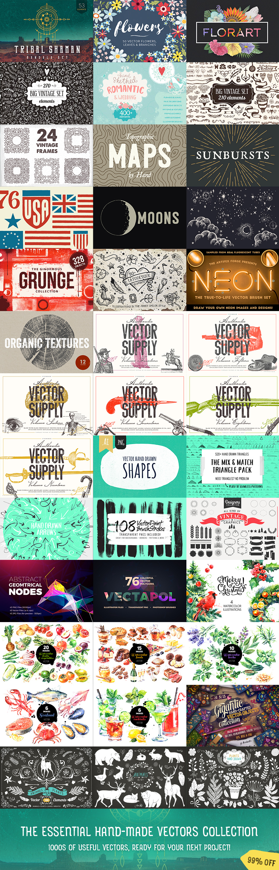 The Essential Hand Made Vectors Collection