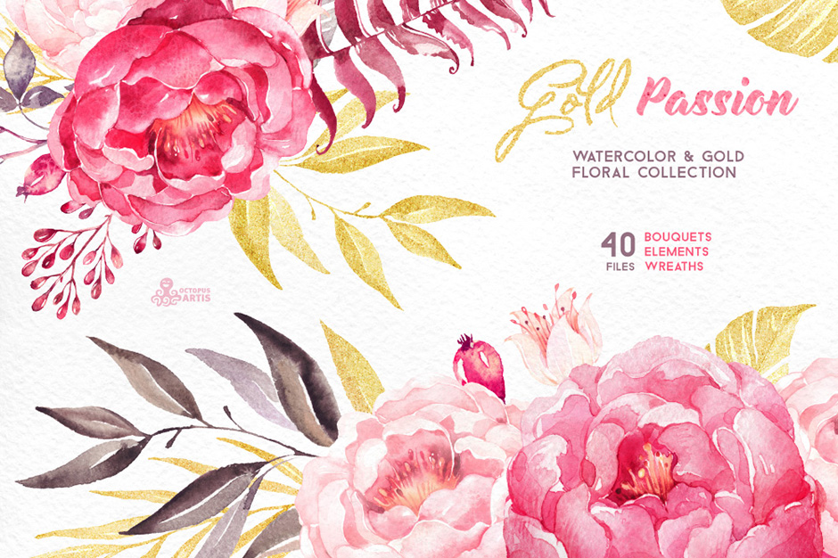Gold Passion - Floral Collection