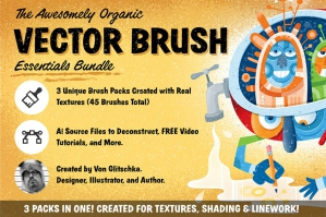 The Organic Vector Brush Bundle
