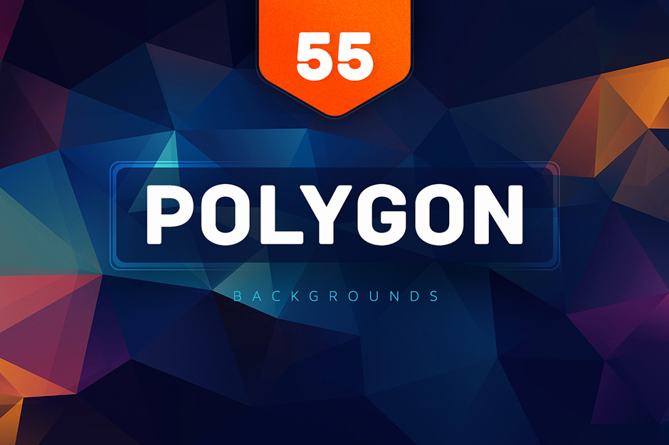 55+ Polygon Colorful Backgrounds V15