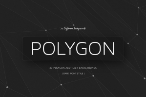 Polygon Backgrounds Dark | Point Style V01