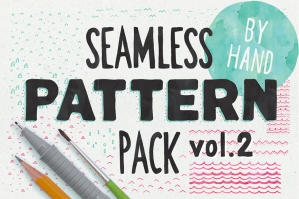 Hand-sketched Seamless Patterns Vol. 2