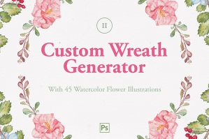 Custom Wreath Generator 2 + Flowers