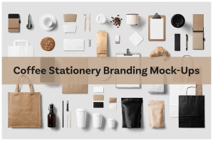 Coffee Stationery Branding Mock-Ups