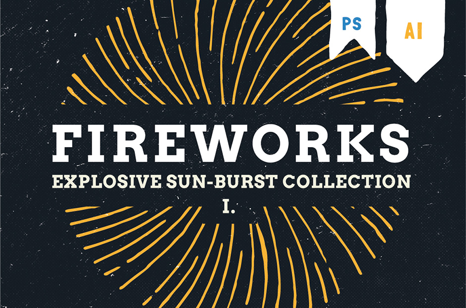 Fireworks Hand-drawn Explosion Pack