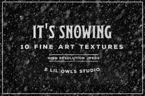 It's Snowing Fine Art Textures