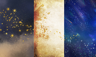 Artistic and Space Textures Pack, Plus Illustrated Stars Graphic