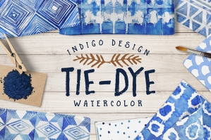 Tie Dye Watercolour Patterns Pack